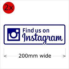 Find Us On Instagram Stickers, 200 mm wide