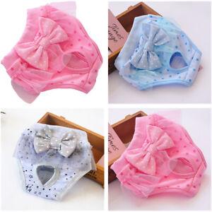 Dog Pet Female Nappy Diapers Shorts Season Sanitary Pants Undies Underpants S-XL