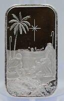 2020 Birth of Jesus 999 Silver 1 oz Art Medal ingot Bar Bethlehem Star Christmas