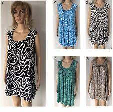 LADIES casual Dress Top sleeveless Plus Large Size 18 20 22 24 26 28 Kaftan