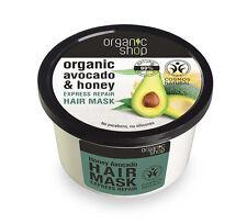 Organic Shop Organic Avocado & Honey Express Repair Hair Mask 250ml No SLS