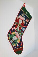 Vintage Needlepoint Nutcracker Christmas Stocking Monogrammed Dad