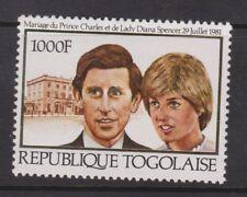 1981 Royal Wedding Charles & Diana MNH Stamp Set Togo Perf