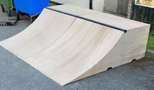 Premium Roll-In Skate Ramp, Large Quarter Pipe, Free UK Delivery