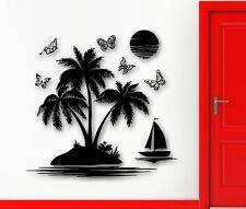Wall Stickers Vinyl Decal Ocean Tropical Beach Sea Palm Recreation Relax (ig505)