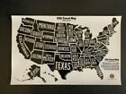 """RV State Sticker Travel Map - 11"""" x 18"""" - USA States Visited Decal"""