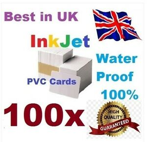 100 PVC inkjet id cards for Epson & Canon can print double-sided