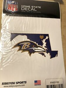 """Collectible BALTIMORE RAVENS NFL FOOTBALL SPORTS HOME STATE SMALL 4.5"""" DECAL"""