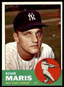 1963 Topps Baseball - Pick A Card - Cards 1-250