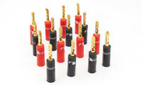 8PCS 24k Gold Plated Nakamichi Speaker Banana Plugs Connector BFA Plug Connector
