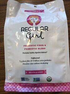 regular girl on the go prebiotic fiber blend & probiotic blend 30 packets