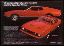 1971 Ford Mustang Mach 1 I red car photo vintage ad