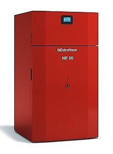 La Nordica Extraflame caldaia termopellet HP30 33,9 kw per 888 m³ rosso