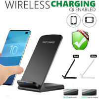 10 W Qi Cordless Fast Charger Charging Pad Stand Dock Samsung Galaxy S10 S10+!