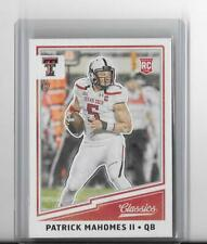 2017 CLASSICS NFL FOOTBALL ROOKIE CARD RC PATRICK MAHOMES II,TEXAS TECH,CHIEFS
