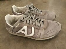 $165 ARMANI JEANS Gray Sneakers Suede Size 8.5