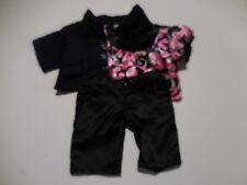 Build A Bear Girls 3Pc Blue Business Jacket, Pink & Black Top & Black Jeans