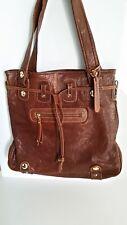 f41de8079341 Gustto Large Brown Leather Shoulder Bag- NWOT