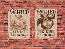 Poster A3 One Piece Nami Nico Robbin Recompensas Wanted Carteles Se Busca Ecchi