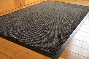 Barrier Mat Large Grey Black Door Mat-Rubber Backed Medium Runner 80 X120-cm