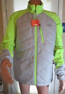The North Face Men's X-Large Ultralight Jogging Jacket in Grey and Safety Green