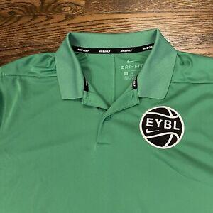 - Nike EYBL Basketball - Golf Polo Shirt - Size Medium Green RECENT