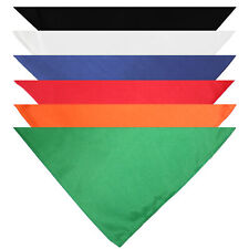 Qraftsy Triangle Solid Cotton Bandanas - 10 Pack - Kerchiefs and Head Scarf