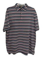 Peter Millar Mens L Multicolor Polo Shirt Short Sleeve Striped Delaware