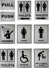 Toilet Door Sign Disabled, Loo, Lavatory Changing Room, Disabled,Gents Aluminium