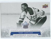 2017 UPPER DECK TORONTO MAPLE LEAFS CENTENNIAL SP #178 TERRY SAWCHUK *50146