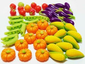 50-Piece Dollhouse Miniature Mixed Vegetables Set * Doll Mini Food Pumpkins Corn