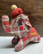 RARE Vintage TOPPIE THE ELEPHANT True Value Stamp Red Gray Plush