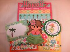 HAWAII  3D PAPER PIECING PREMADE SCRAPBOOK PAGE MAT SET