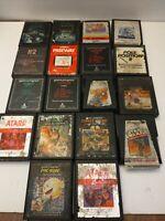 Atari 2600 Large Lot of 18 Games *UNTESTED* Great Games  starwars pac man combat