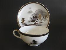 Kutani Tea Cup Saucer Shadow Of A Geisha Image On Bottom