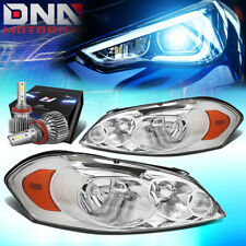 For 2006 2015 Chevy Impalamonte Carlo Headlights Withled Kit Slim Style Chrome Fits 2006 Impala