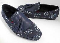 Salvatore Ferragamo Navy Blue Finnegan Motorcycle Loafers 8 M Italy $700rt