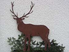 Edelrost Hirsch XL 105 cm  Reh Jäger Rentier   Metall Rost Tiere Weihnachtsdeko