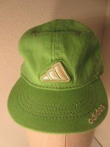 Adidas Green Childs Cap Hat Elastic Back