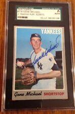 1970 Topps #114  Gene Stick Michael   SIGNED AUTOGRAPH  Yankees   JSA/SGC Cert