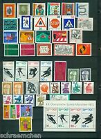 Bund Auswahl aus Jahrgang 1970 - 1979 , postfrisch ,