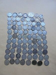 JOB LOT OF PRE 1920 SILVER COINS SCRAP/KEEP  REF 578