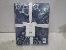 Pottery Barn Blue Giovanna Medallion Duvet Cover, Full/Queen