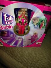 Vintage 1997 Talk with Me with Cd and Barbie Doll New Nib