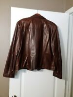 "Gorgeous Women's Remy U.S.A. Brown Leather Jacket - Size ""XL"""