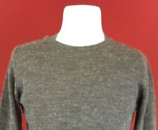 Diesel Gray Crew Neck Pullover Sweater Mens Large