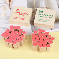 Basic Alphabet Number character stamp DIY wooden rubber stamps for scrapbook Dz