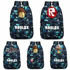 Roblox Backpack Kids School Bag Students Boy Handbags Travelbag Thunder Blue B