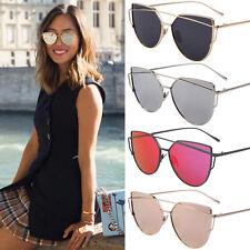 Moda Mujer Espejo lentes El deporte Retro Forma oversize Gafas de sol