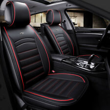 De Lujo Negro Cuero PU asiento delantero cubre Acolchado Para BMW 3 5 7 X3 X4 X5 X6